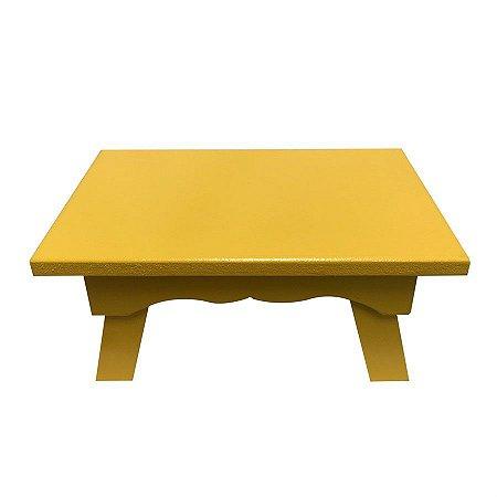 Banqueta de MDF Retangular Pequena Amarela