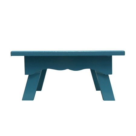 Banqueta de MDF Retangular Pequena Azul Tiffany