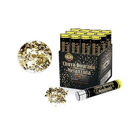 Lança Confete Dourado c/ 1 unidade