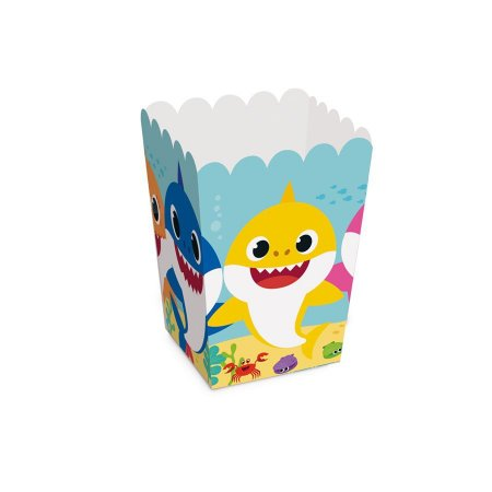 Caixa Pipoca - Baby Shark c/ 10 unidades