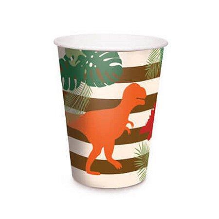 Copo De Papel 240 ml - Mundo dos Dinossauros c/ 8 unidades