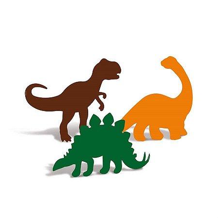 Enfeite Decorativo Mesa - Mundo dos Dinossauros c/ 4 unidades