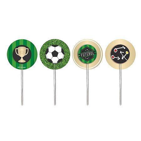 Pick Decorativo - Futebol c/ 12 unidades