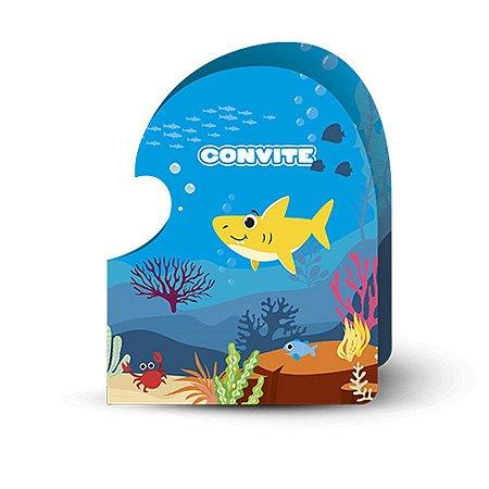 Convite - Family Shark c/ 8 unidades