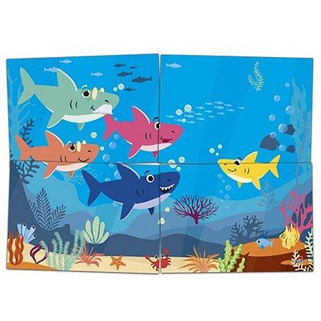 Painel 4 Lâminas - Family Shark c/ 1 unidade
