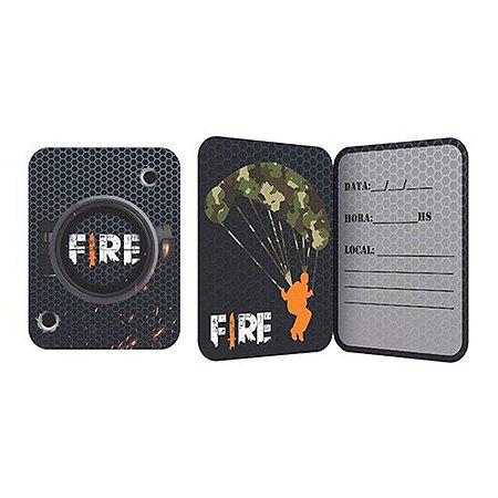 Convite - Free Fire c/ 8 unidades