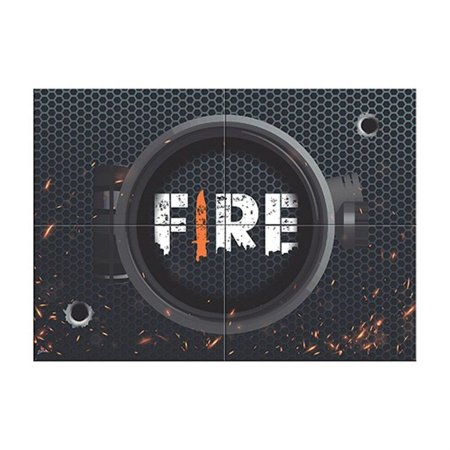 Painel 4 Lâminas - Free Fire c/ 1 unidade