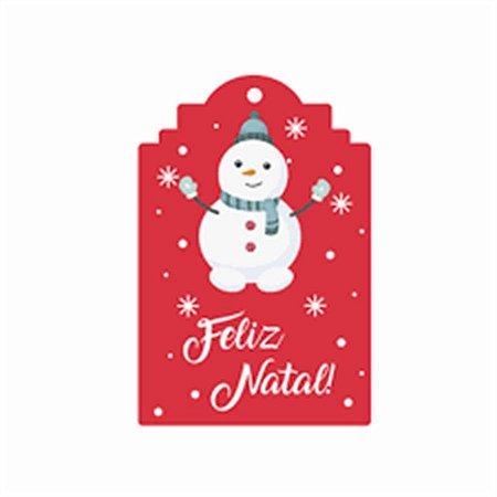 Tag para Lembrancinha - Natal c/ 24 unidades