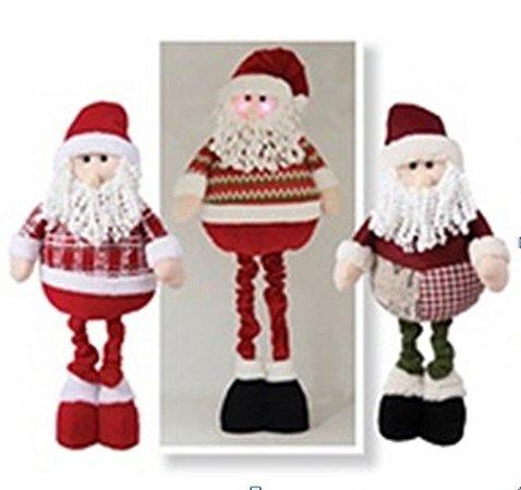 Boneco Papai Noel Pano Led 94 cm - Natal c/ 1 unidade