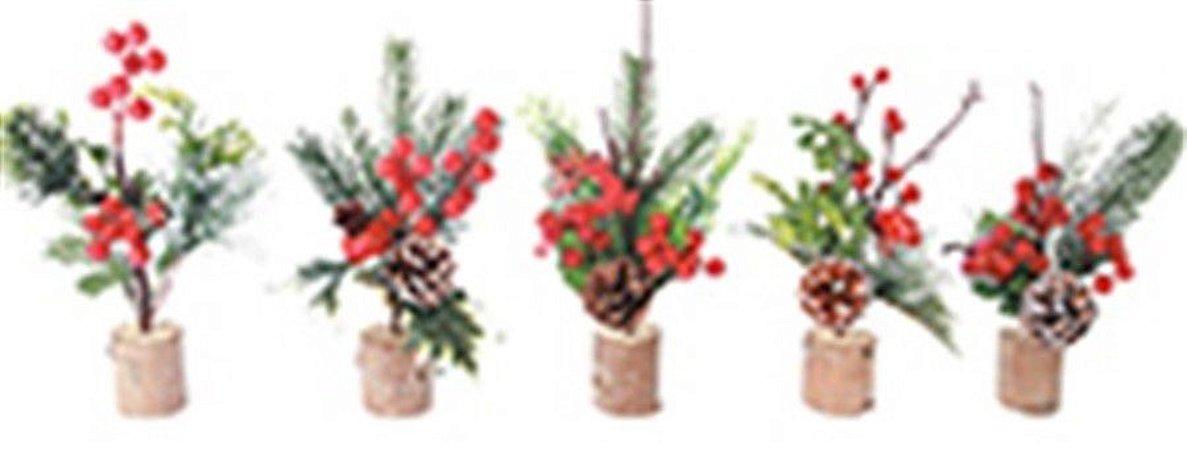 Galho c/ frutos 25 cm - Natal c/ 1 unidade