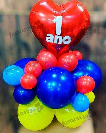Bouquet de Balões Inflados - Arranjo de mesa personalizado