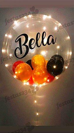 Balão Bubble de Silicone com bolinhasc/ 1 palavra e Led
