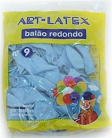 Balão Látex 9P Liso c/ 50 unidades