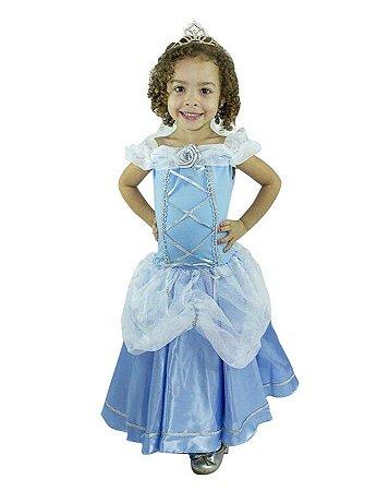 Fantasia Princesa Cinderela Luxo