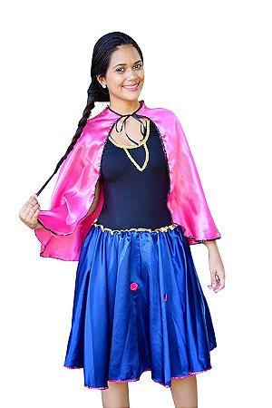 Fantasia Vestido Ana Frozen