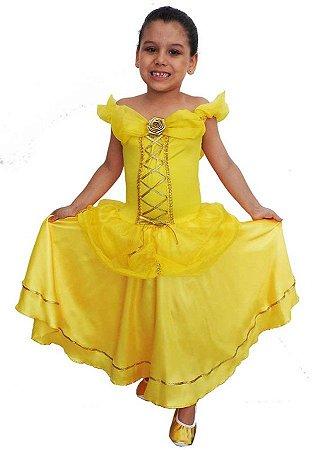 Fantasia Princesa Bela Luxo Infantil