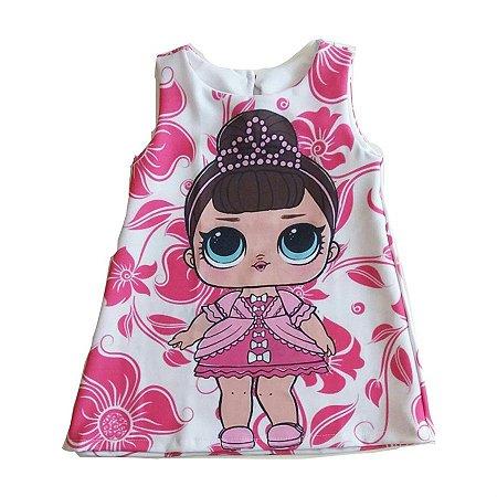 Fantasia Vestido Infantil Boneca LOL Fancy