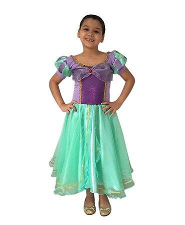 Fantasia Princesa Sereia Ariel Infantil
