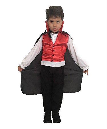 Fantasia Drácula Infantil Halloween