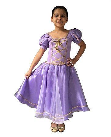 Fantasia Rapunzel Infantil