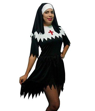 Fantasia Freira Adulto Halloween