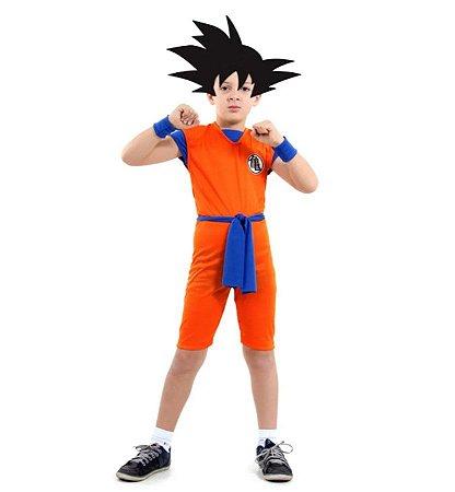 Fantasia Goku Dragon Ball Z Curto Infantil