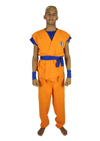 Fantasia Goku Dragon Ball Masculina Adulto
