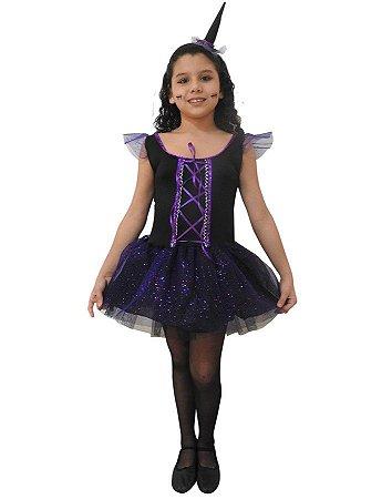 Fantasia Bruxa Preta Infantil Halloween