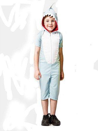 Fantasia Baby Shark Azul Claro Infantil