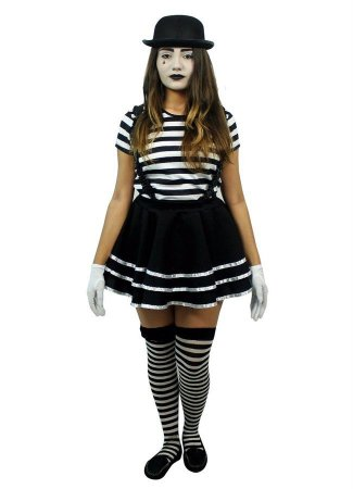 Fantasia Mimica Feminina Adulto Halloween