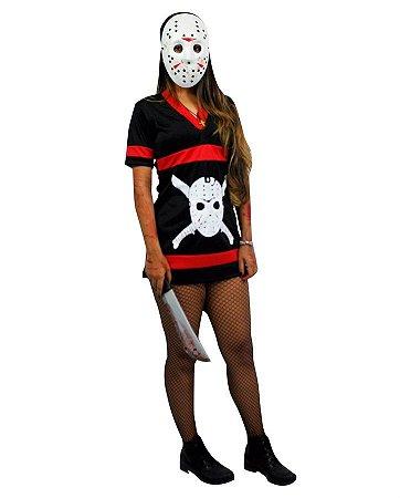 Fantasia Jason Feminina Halloween