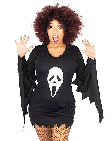 Fantasia Pânico Feminina Adulto Halloween
