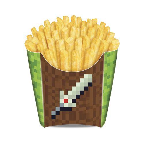 Caixa para fritas Mini Pixels - 08 unidades
