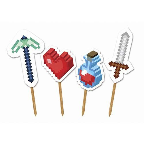 Picks Decorativo - Mini Pixels c/ 4 unidades