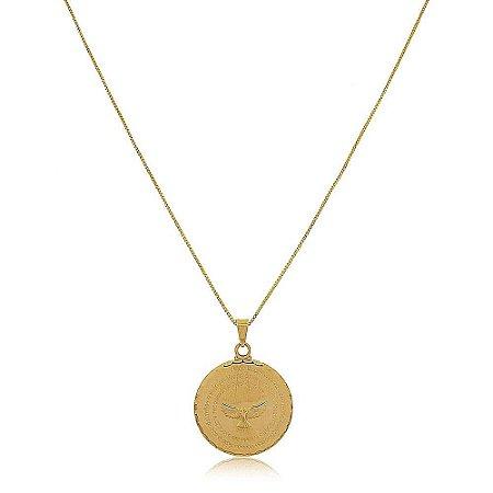 Colar Mandala Espírito Santo Folheado a Ouro 18k