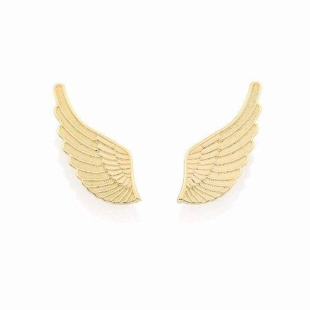 Brinco Ear Cuff Asa de Anjo Folheado a Ouro 18K