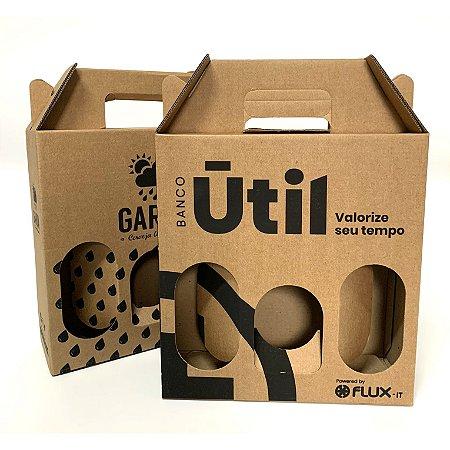 100 Caixas G3 Garrafas Papelão Kraft 500/600 ml