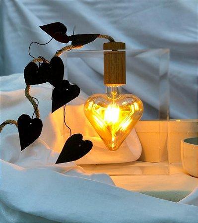 Luminária Coração Apertado Cheio de Amor