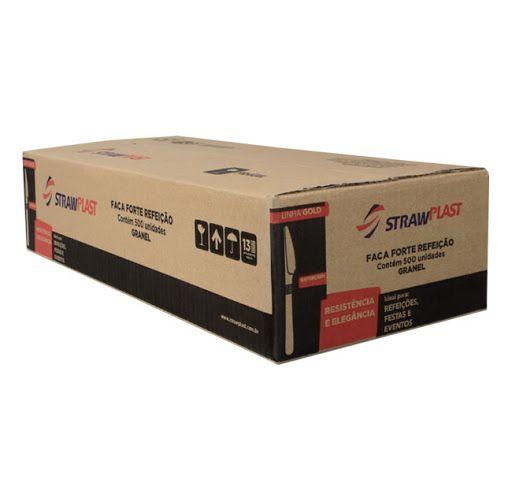 Faca Forte Branca granel cx c/500 und - Strawplast