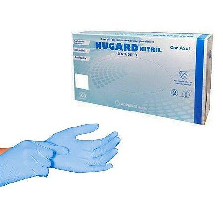 Luva de nitrilo azul P sem pó - Nugard