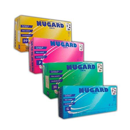 Luva para procedimento em látex com pó tamanho MÉDIO cx c/ 100 und - Nugard