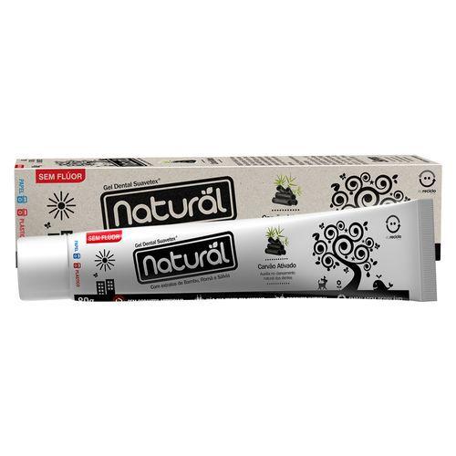 Gel Dental Natural com carvão ativado, bamboo, romã e sálvia 80 gr - Suavetex
