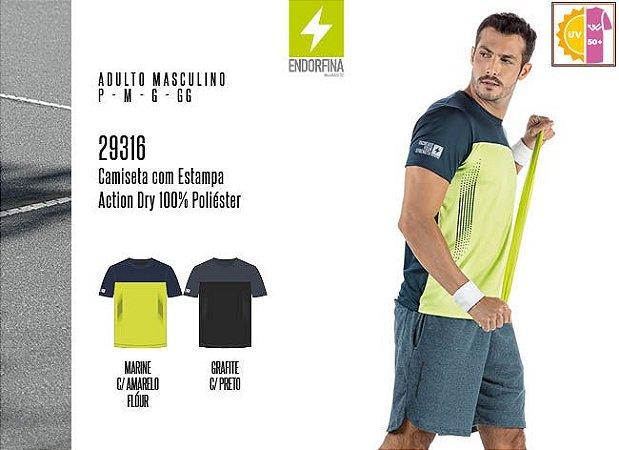 Camiseta Masculina Endorfina c/ Estampa