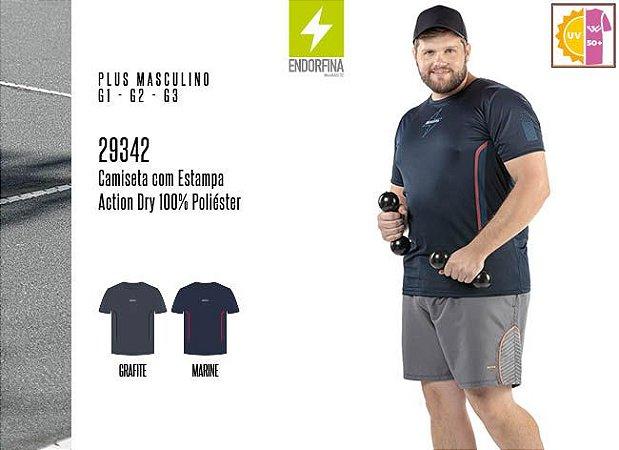 Camiseta Masculina Plus Endorfina c/ Estampa
