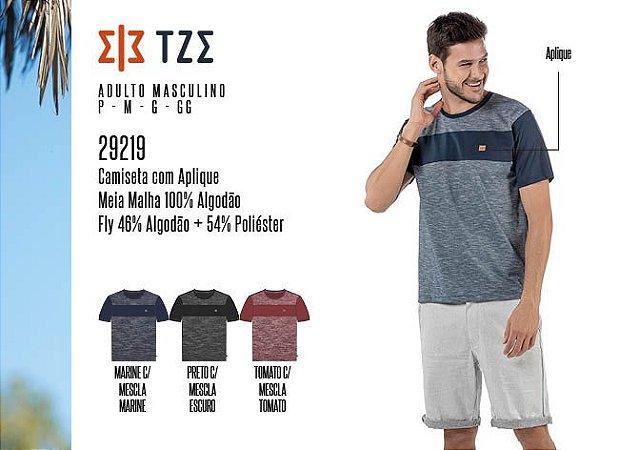 Camiseta Masculina TZE c/ Aplique