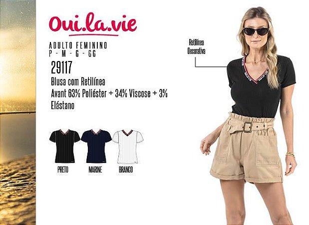 Blusa Feminina Oui.la.vie c/ Retilíneas