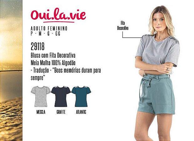 Blusa Feminina Oui.la.vie c/ Fita Decorativa