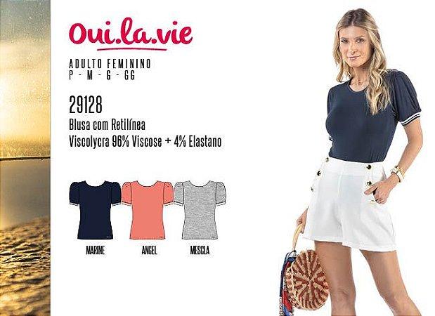 Blusa Feminina Oui.la.vie c/ Retilínea