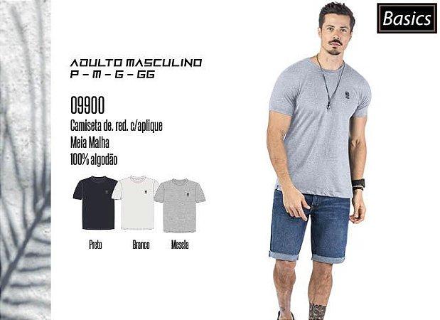 Camiseta Masculina Basic dec. Red. c/ Aplique