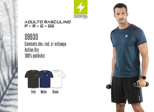 Camiseta Masculina Esportiva Basic dec. Red. c/ Estampa